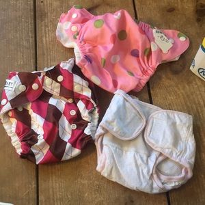 {3} girl cloth diapers